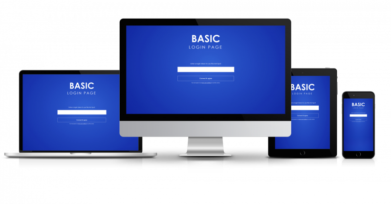 login page templates guest internet