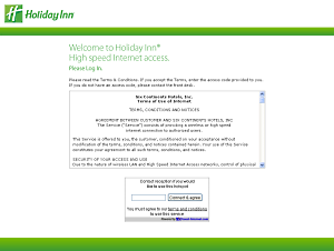 Example WiFi Hotspot login page